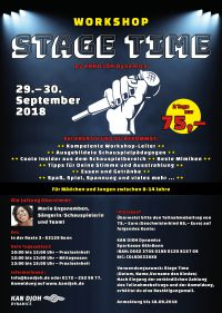 Stage Time: Tanz-, Theater-,Gesangs-Workshop 2018